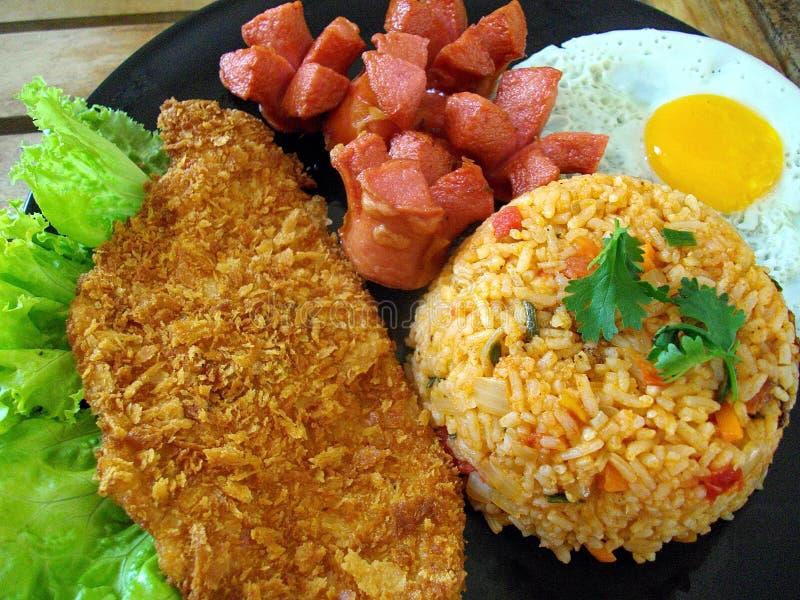 αμερικανικό τηγανισμένο ρύζι στοκ φωτογραφίες με δικαίωμα ελεύθερης χρήσης