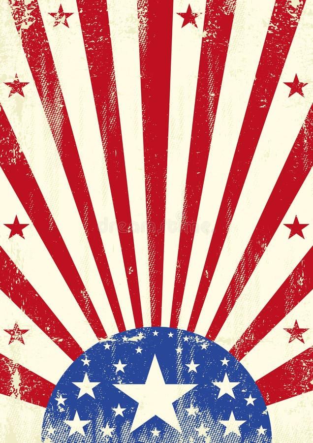 Αμερικανικό υπόβαθρο αστεριών grunge απεικόνιση αποθεμάτων