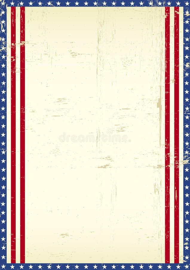 Αμερικανικό υπόβαθρο πλαισίων διανυσματική απεικόνιση