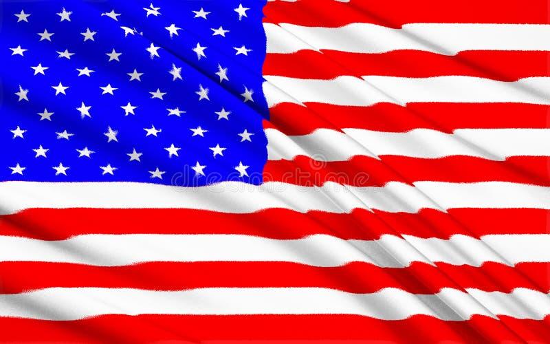 Αμερικανικό υπόβαθρο σημαιών αστεριών και λωρίδων στοκ εικόνα με δικαίωμα ελεύθερης χρήσης