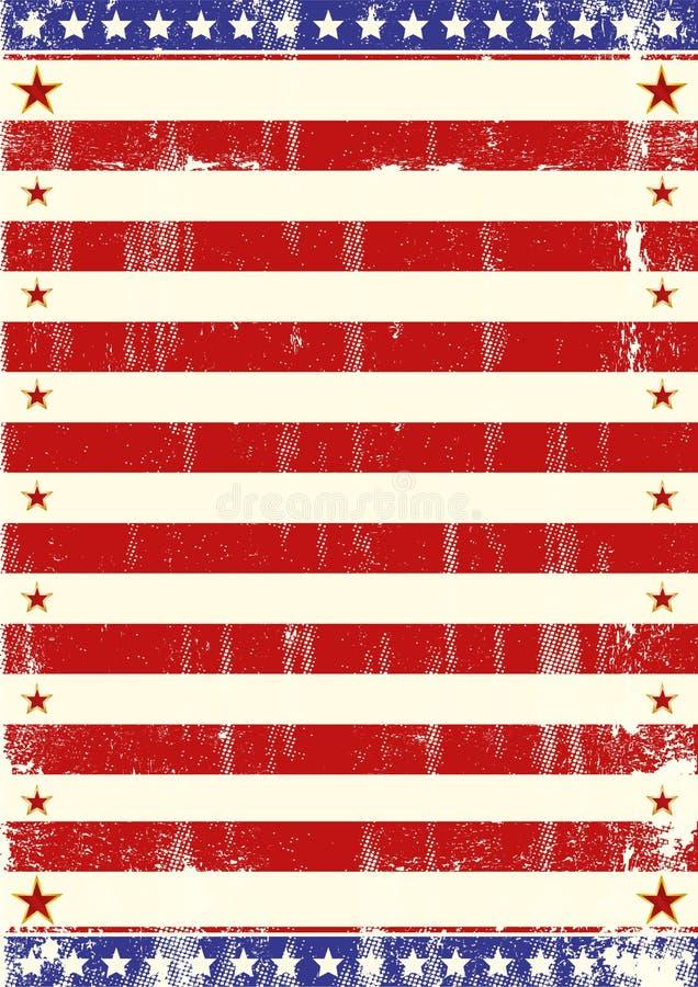 Αμερικανικό φυλλάδιο αστεριών διανυσματική απεικόνιση