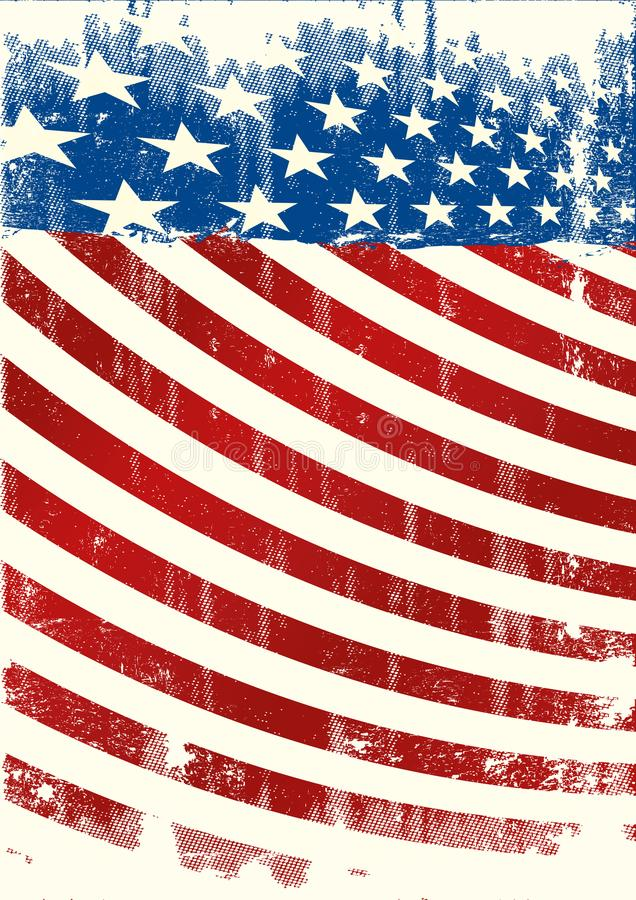 Αμερικανικό φυλλάδιο grunge backround ελεύθερη απεικόνιση δικαιώματος