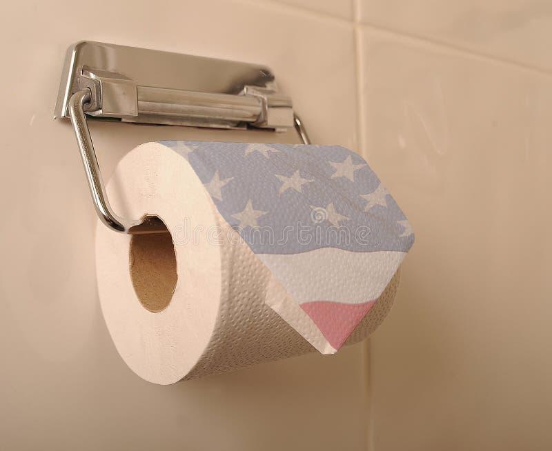 Αμερικανικό χαρτί τουαλέτας στοκ φωτογραφία