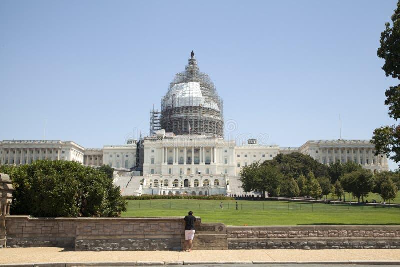 Αμερικανικό Capitol κτήριο στην αποκατάσταση στοκ φωτογραφία με δικαίωμα ελεύθερης χρήσης