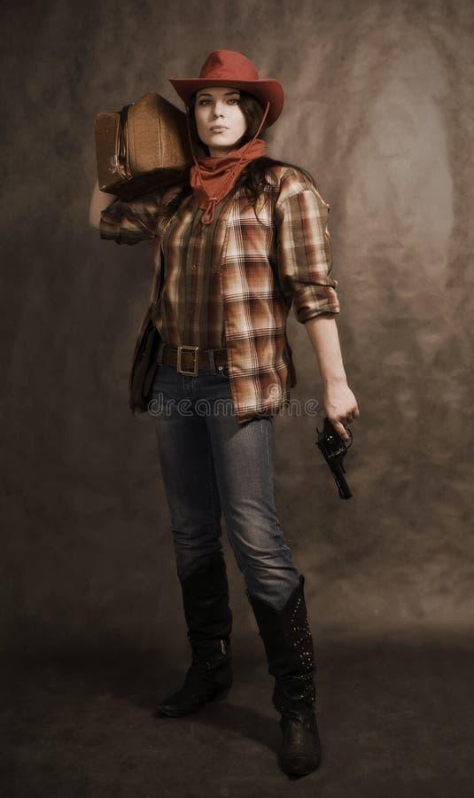 αμερικανικό cowgirl στοκ φωτογραφία με δικαίωμα ελεύθερης χρήσης