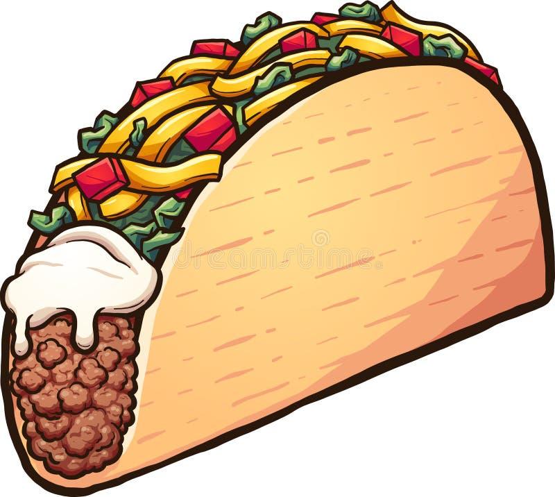 Αμερικανικό taco κινούμενων σχεδίων ύφους ελεύθερη απεικόνιση δικαιώματος