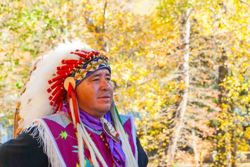 Αμερικανός ιθαγενής τσερόκι στα καπνώδη βουνά στην πτώση IV στοκ εικόνες με δικαίωμα ελεύθερης χρήσης