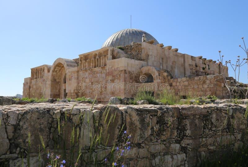 Αμμάν Castle, ακρόπολη του Αμμάν στοκ εικόνες