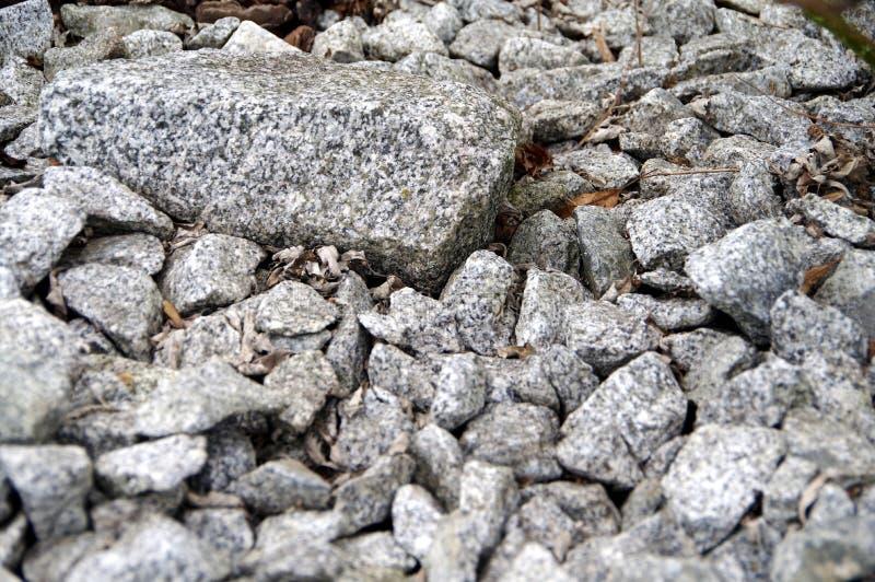 Αμμοχάλικο του γκρίζου γρανίτη στοκ φωτογραφίες