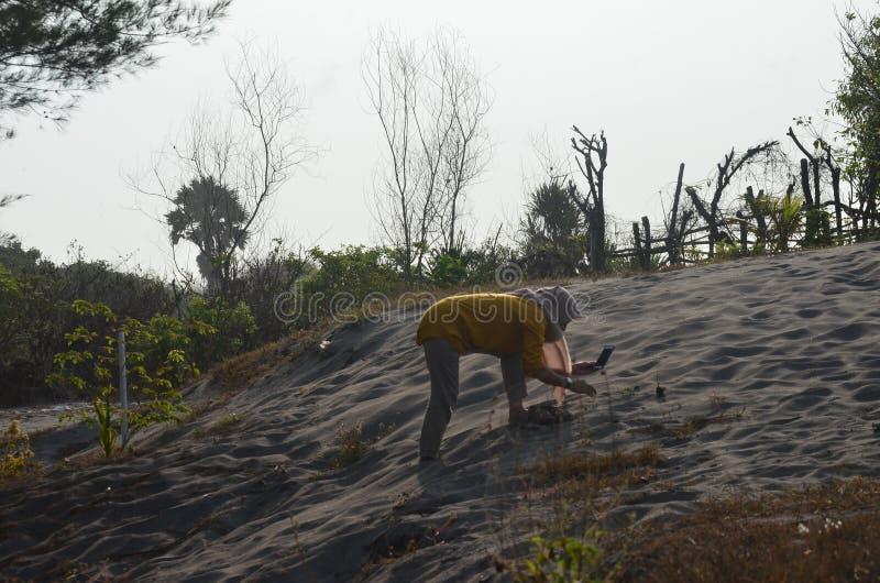 Αμμόλοφοι άμμου διασκέδασης για να παίξει ξαπλώνοντας με τη ζεστασιά τους στοκ εικόνες