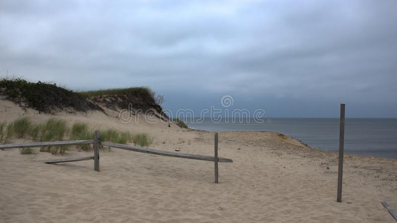 Αμμόλοφοι άμμου στο βακαλάο ακρωτηρίων στοκ εικόνες
