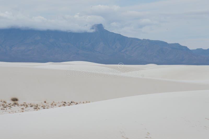 Αμμόλοφοι του άσπρου εθνικού μνημείου άμμων στοκ φωτογραφίες με δικαίωμα ελεύθερης χρήσης