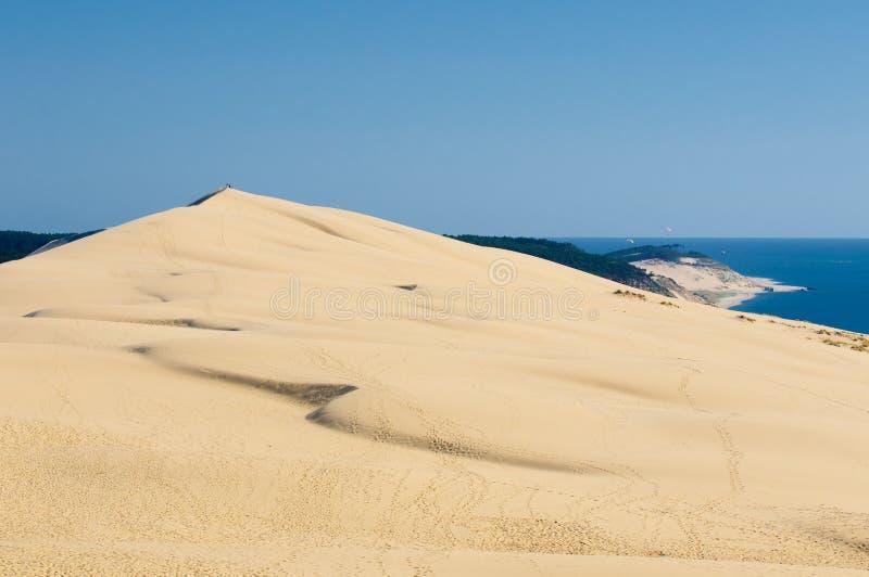Αμμόλοφος Pyla, ο μεγαλύτερος αμμόλοφος άμμου στην Ευρώπη στοκ φωτογραφίες