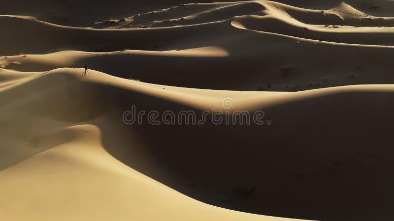 Αμμόλοφος ερήμων Σαχάρας στο Μαρόκο στοκ φωτογραφία με δικαίωμα ελεύθερης χρήσης