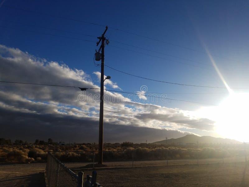 Αμμώδες ηλιοβασίλεμα στοκ φωτογραφία με δικαίωμα ελεύθερης χρήσης