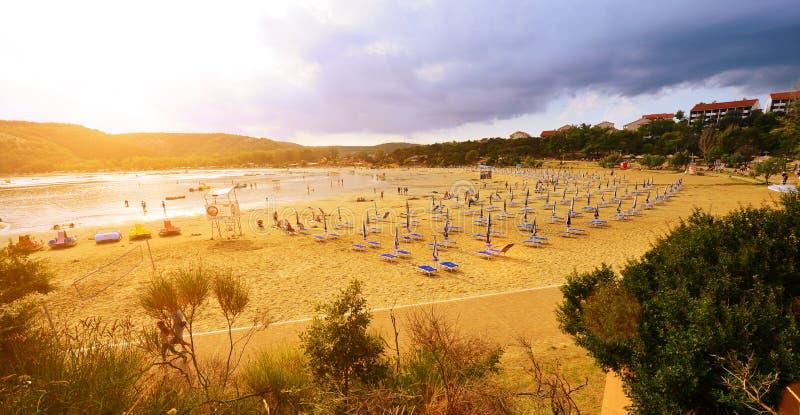 Αμμώδεις παραλίες της Κροατίας - Rab, Lopar στοκ εικόνα