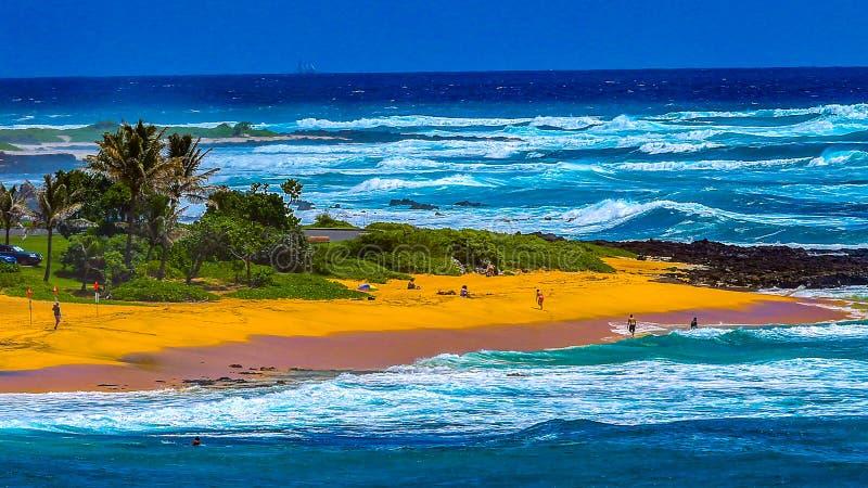 Αμμώδες πάρκο Χαβάη παραλιών στοκ φωτογραφία με δικαίωμα ελεύθερης χρήσης