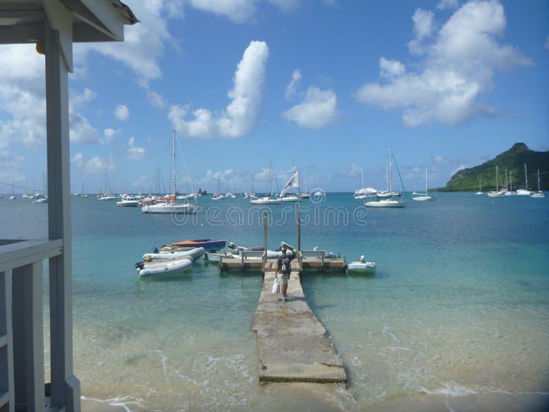 Αμμώδης παραλία HopeTown, Abacos, Μπαχάμες στοκ φωτογραφίες με δικαίωμα ελεύθερης χρήσης