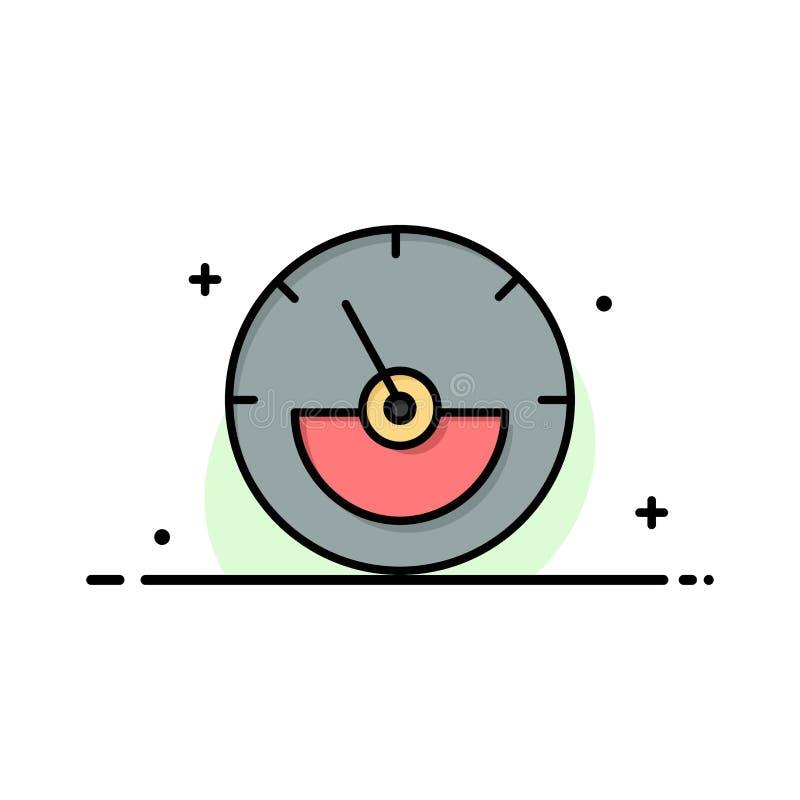 Αμπέρ, μετρητής αμπέρ, ηλεκτρικός, πρότυπο λογότυπων ενεργειακών επιχειρήσεων Επίπεδο χρώμα απεικόνιση αποθεμάτων