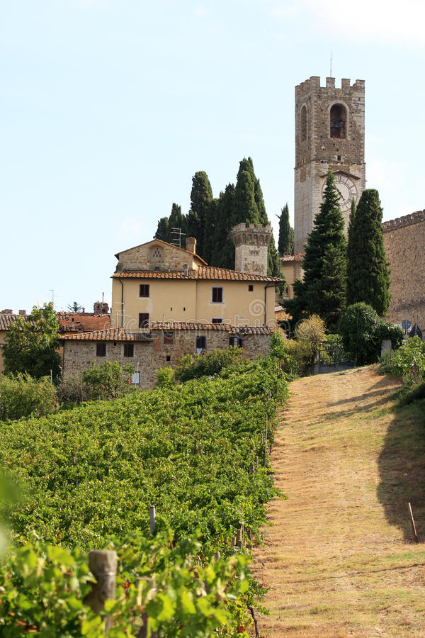 Αμπελουργία Badia Di Passignano, Τοσκάνη, Ιταλία στοκ εικόνες με δικαίωμα ελεύθερης χρήσης