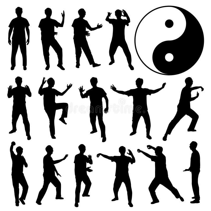 αμυντικός fu kung πολεμικός μόν&omi απεικόνιση αποθεμάτων