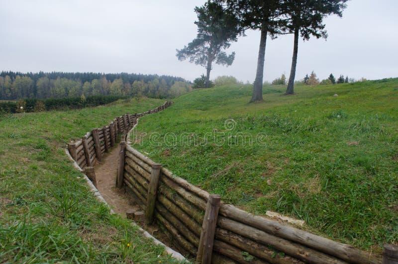 Αμυντικό σύστημα γραμμών του Στάλιν στοκ εικόνα με δικαίωμα ελεύθερης χρήσης