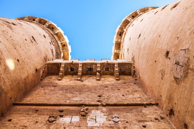 Αμυντικό τέταρτο γαλλονιού πύργων στο ιστορικό κέντρο της Βαλένθια στοκ φωτογραφία με δικαίωμα ελεύθερης χρήσης