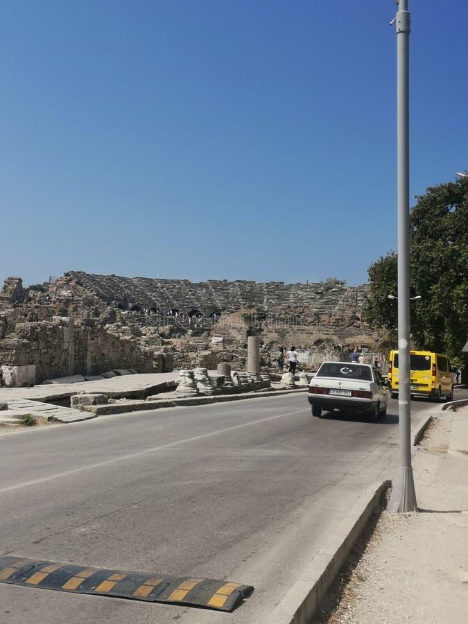Αμφιθέατρο αρχαίου Έλληνα στοκ φωτογραφία
