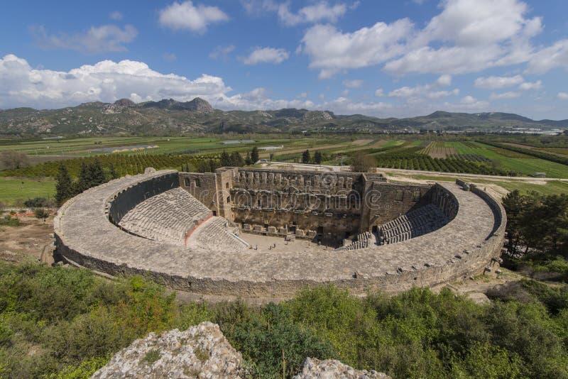Αμφιθέατρο σε Aspendos, Τουρκία στοκ φωτογραφία