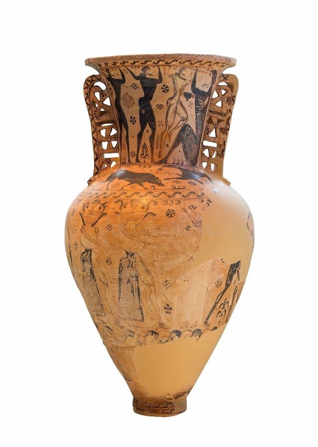 Αμφορέας αρχαίου Έλληνα (7ος αιώνας Π.Χ.) στοκ εικόνες με δικαίωμα ελεύθερης χρήσης