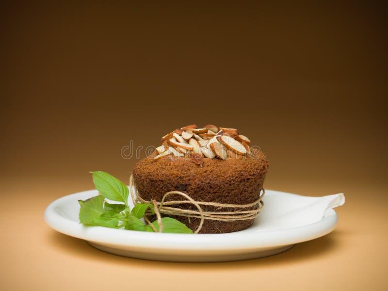 Αμύγδαλα Cupcake στοκ φωτογραφία