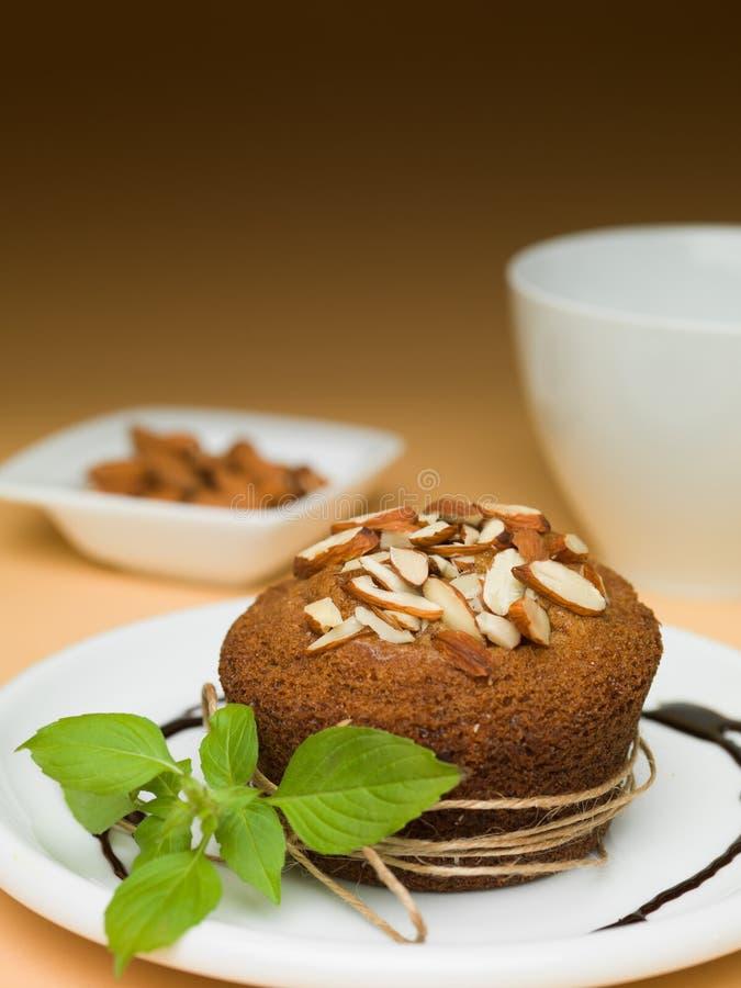 Αμύγδαλα Cupcake στοκ εικόνα