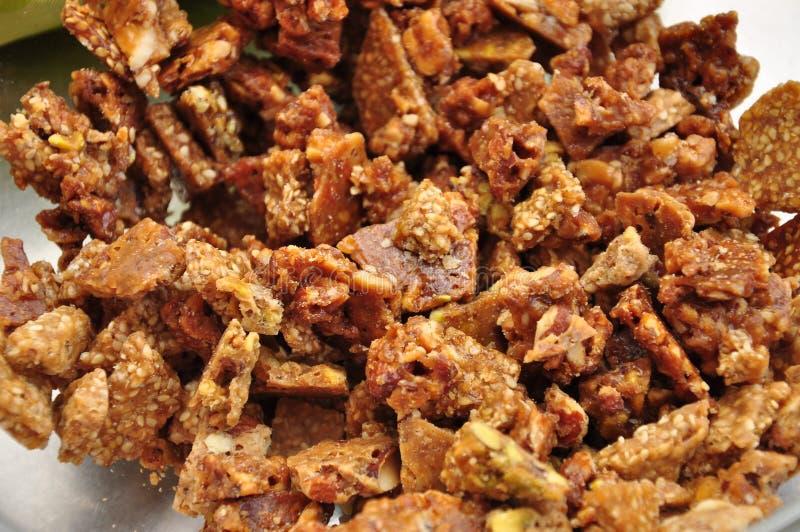 Αμύγδαλο και φυστίκι εύθραυστα Παραδοσιακή σισιλιάνα καραμέλα στοκ εικόνες