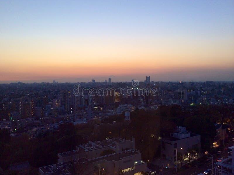 ΑΜ Φούτζι άποψης σούρουπου στοκ φωτογραφίες με δικαίωμα ελεύθερης χρήσης