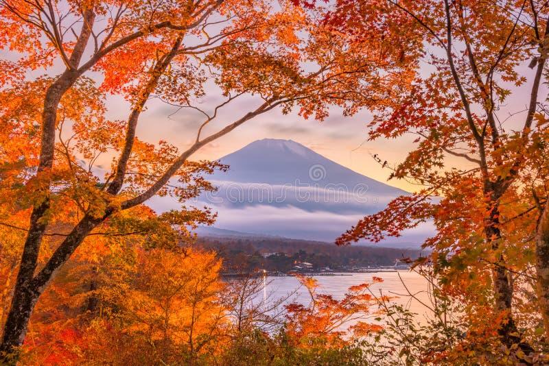 ΑΜ Φούτζι, Ιαπωνία στην εποχή φθινοπώρου στοκ εικόνες