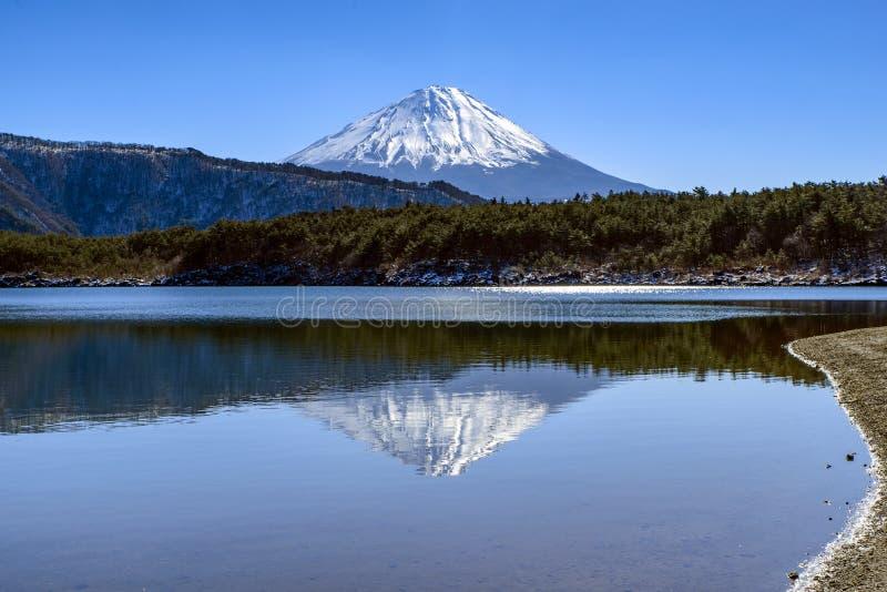 ΑΜ Φούτζι και λίμνη Saiko στοκ φωτογραφία