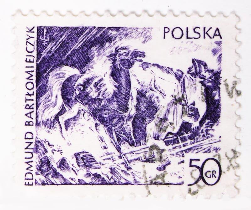 Ανάβοντας, από το Edmund Bartlomiejcyk, τις Modern Polish Graphic τέχνες serie, circa 1979 στοκ φωτογραφία με δικαίωμα ελεύθερης χρήσης