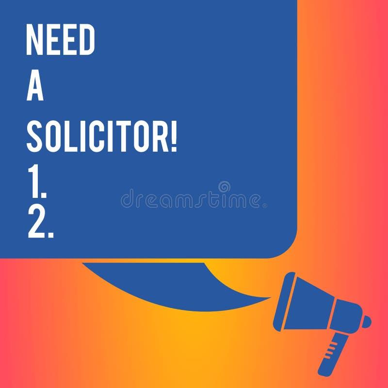 Ανάγκη γραψίματος κειμένων γραφής ένας δικηγόρος Έννοια που σημαίνει το νομικό επαγγελματία που εξετάζει το μεγαλύτερο μέρος του  διανυσματική απεικόνιση