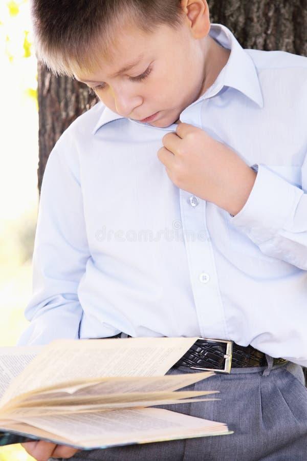 ανάγνωση αγοριών βιβλίων σ& στοκ εικόνα