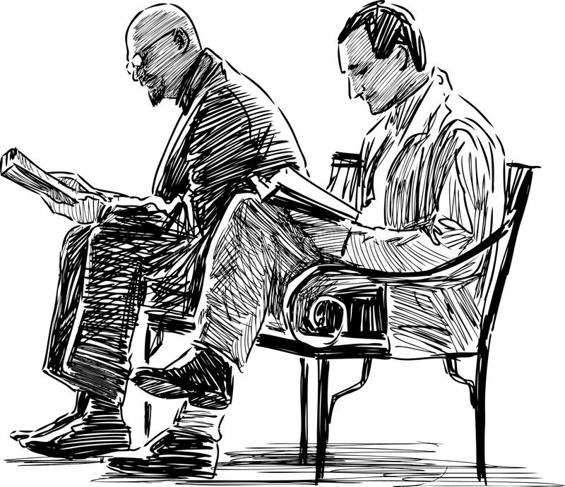 Ανάγνωση ατόμων ελεύθερη απεικόνιση δικαιώματος