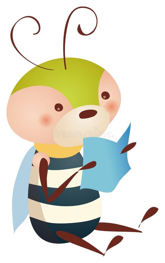 ανάγνωση βιβλίων μελισσών απεικόνιση αποθεμάτων