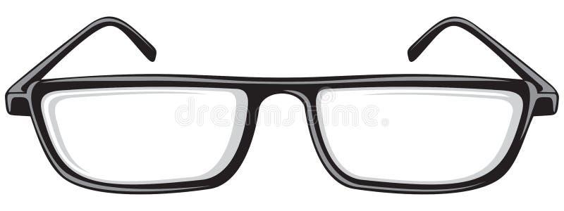 ανάγνωση γυαλιών διανυσματική απεικόνιση