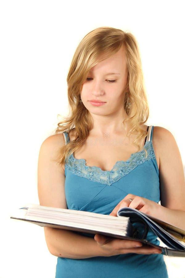 ανάγνωση εγγράφων στοκ εικόνα
