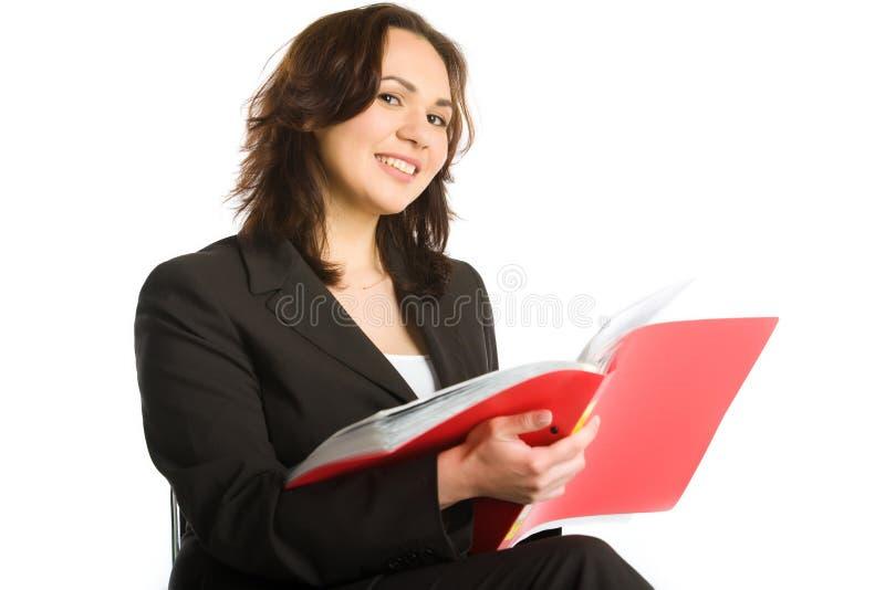 ανάγνωση επιχειρηματιών στοκ εικόνα με δικαίωμα ελεύθερης χρήσης
