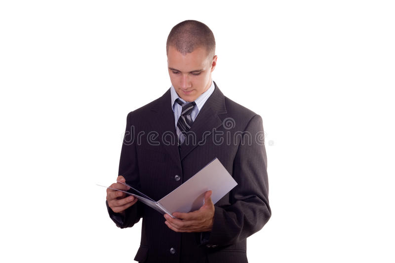 ανάγνωση επιχειρηματιών στοκ φωτογραφίες