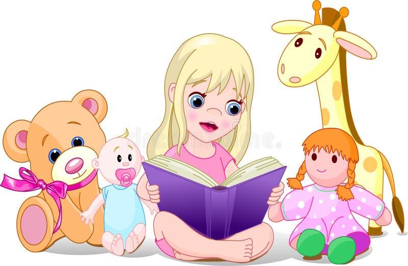 ανάγνωση κοριτσιών διανυσματική απεικόνιση