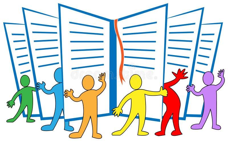 Ανάγνωση ομάδας διανυσματική απεικόνιση