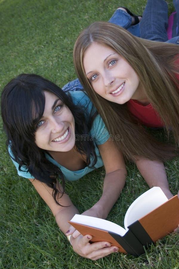 ανάγνωση φίλων στοκ εικόνα