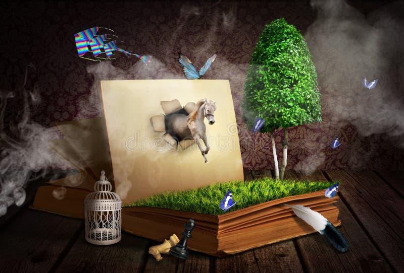 Ανάγνωση concept3 Περίληψη στο βιβλίο διανυσματική απεικόνιση