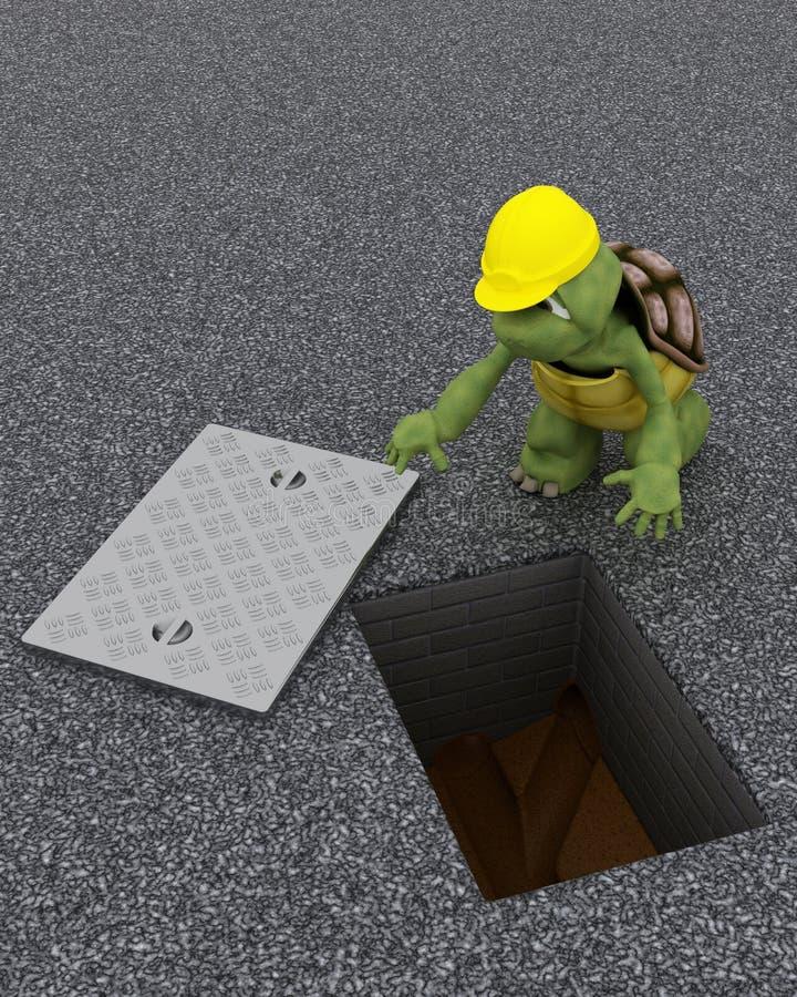 Ανάδοχος κτηρίου Tortoise απεικόνιση αποθεμάτων